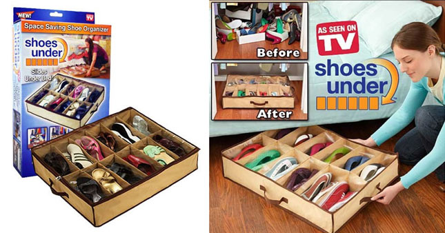 50% OFF! 12 in 1 Shoes Under Space Saving Shoe Organizer worth Rs. 1,100 for just Rs. 550!