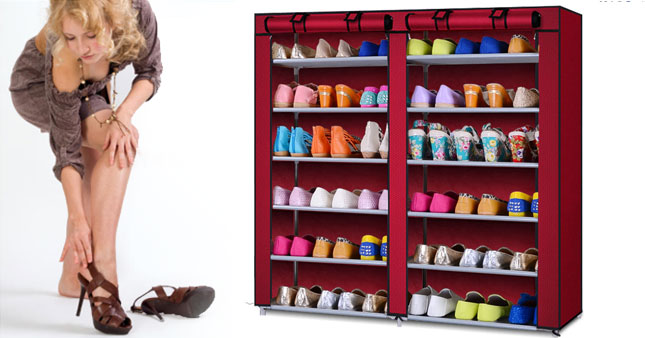50% OFF! 6 Layer Double row Dust-proof Shoe Cabinet worth Rs. 5,600 for just Rs. 2,800!