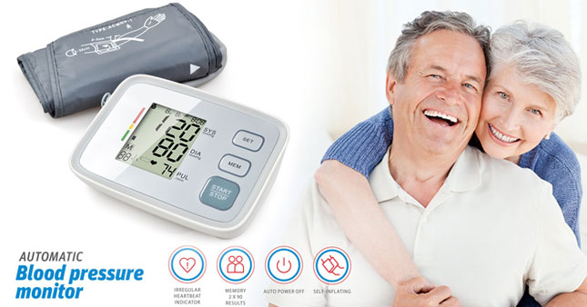 40% OFF! Upper arm digital blood pressure monitor worth Rs. 6,250 for just Rs. 3,750!
