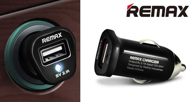 50% OFF !Remax 5V 2.1A Single Port USB Car Charger worth Rs. 1,200 for just Rs. 600!
