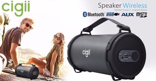 40% OFF! Cigii S22B Cylindrical Wireless Bluetooth Speaker worth Rs.6,500 for just Rs.3,850!