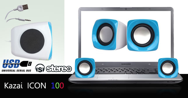 40% OFF! A perfect way to Enhance Your Music Experience with Kazai Icon 100 Portable USB Powered Speaker Set worth Rs. 1,250 for just Rs. 750!