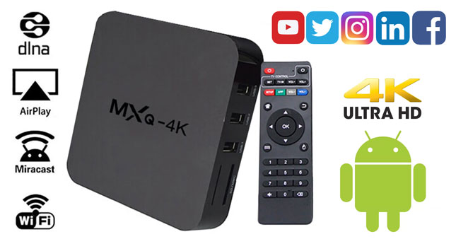 49% OFF! FLASH DEAL... MXQ-4K Smart Android TV BOX worth Rs. 9,750 for just Rs. 4,950!