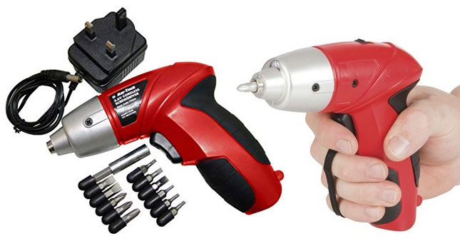 50% OFF! Compact Rechargeable 3.6v Cordless Screwdriver With 12 Bits worth Rs. 3,900 for just Rs. 1,950!