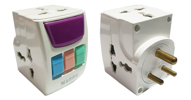 42% OFF! Multi Plug With 3 Switches 3 Sockets and Indicator worth Rs. 950 for just Rs. 550!