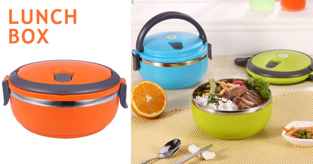 50% OFF! One Layer Stainless Steel Lunch Box worth Rs. 700 for just Rs. 350!