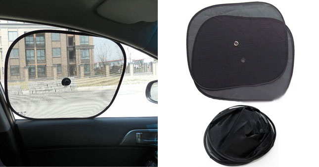 50% OFF! Reduce sun glare and UV Rays from your child or passenger with pair of Car Side Window Mesh Sun Shade worth Rs. 600 for just Rs. 300!