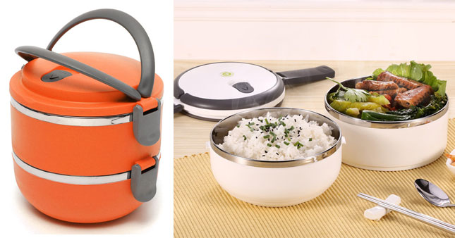 50% OFF! Two Layer Stainless Steel Lunch Box worth Rs. 1,100 for just Rs. 550!