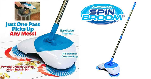 50% OFF! Spin Broom Cordless Spinning Broom worth Rs. 3,500 for just Rs. 1,750!