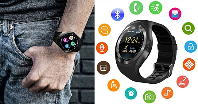 50% OFF! Y1 Round Screen Bluetooth GSM Smart Watch worth Rs. 4,700 for just Rs. 2,350!