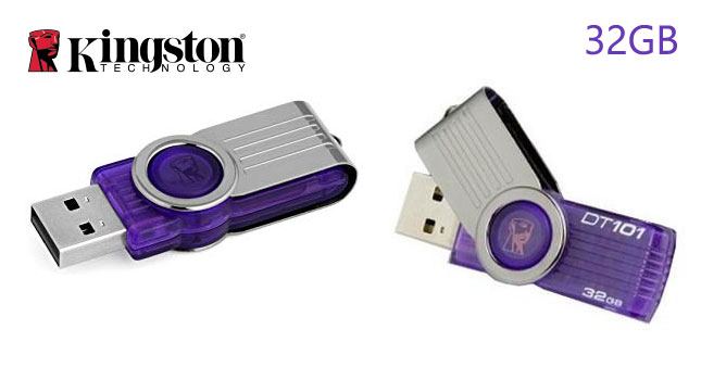 40% OFF! Kingston 32GB DataTraveler 101 G2 USB Flash Drive worth Rs. 2,300 for just Rs. 1,300!