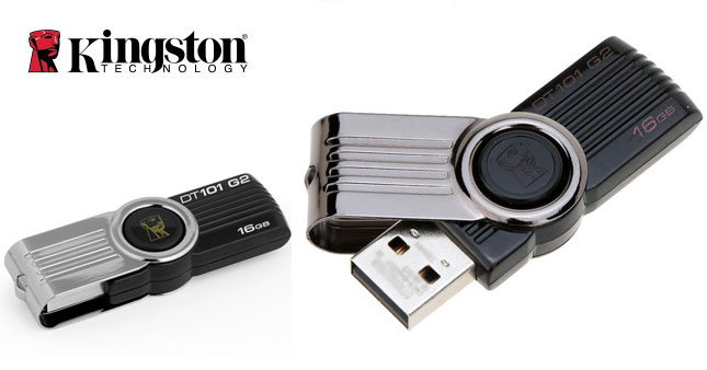 40% OFF! Kingston 16GB DataTraveler 101 G2 USB Flash Drive worth Rs. 1,850 for just Rs. 1,100!