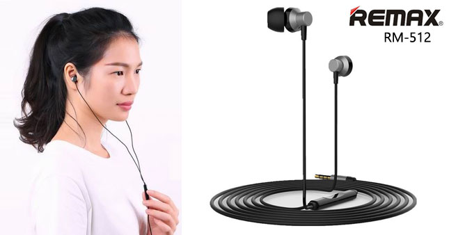 50% OFF! Remax RM-512 3.5mm Wired Music Earphones worth Rs. 1,500 for just Rs. 750!