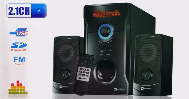 30% OFF! Super Bass SAYONA SHT-1031 2.1CH Subwoofer worth Rs. 8,300 for just Rs. 5,800!