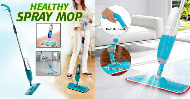 41% OFF! Spray Mop with Micro Fiber Pad worth Rs. 2,999 for just Rs. 1,750!