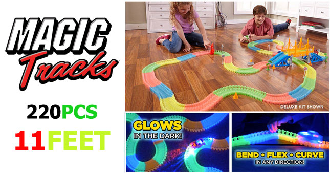 50% OFF! 220 PCS Magic Tracks-Bend Flex & Glow Racetrack with Car worth Rs.2,500 for just Rs. 1,250.