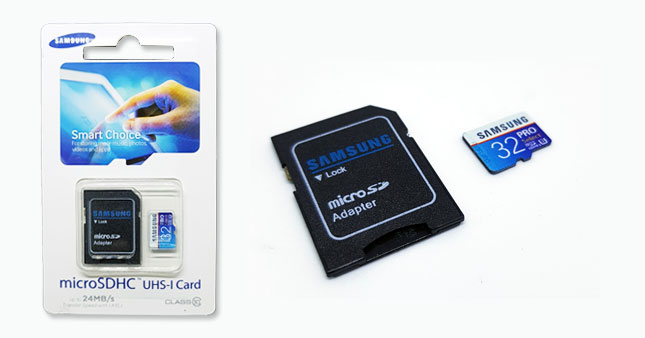 56% OFF! FLASH DEAL... Samsung 32 GB Micro SDHC Class 10 Memory Card with Adapter worth Rs. 3,250 for just Rs. 1,399!