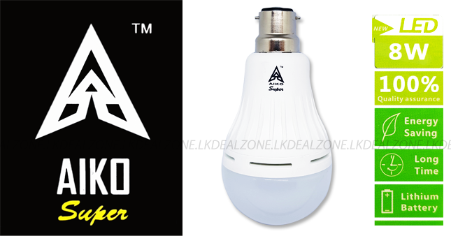 37% OFF! Aiko 8W Emergency Energy Saving LED Bulb worth Rs. 1,750 just for Rs. 1,100!