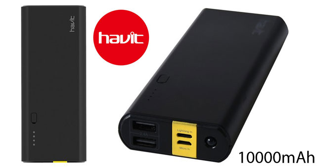 30% OFF! HAVIT PB8804 10000mAh Power bank worth Rs. 4,250 for just Rs. 2,950!