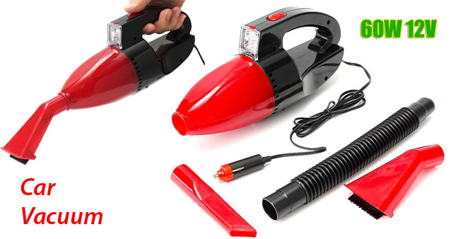50% OFF!Car Vacuum Cleaner with Work Light  worth Rs. 2,200 for just Rs. 1,100!