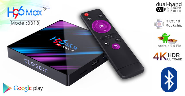 37% OFF! H96 MAX 2GB/16GB 4K Android 9.0 Smart TV Box With Inbuilt Bluetooth worth Rs. 13,500 for just Rs. 8,500!